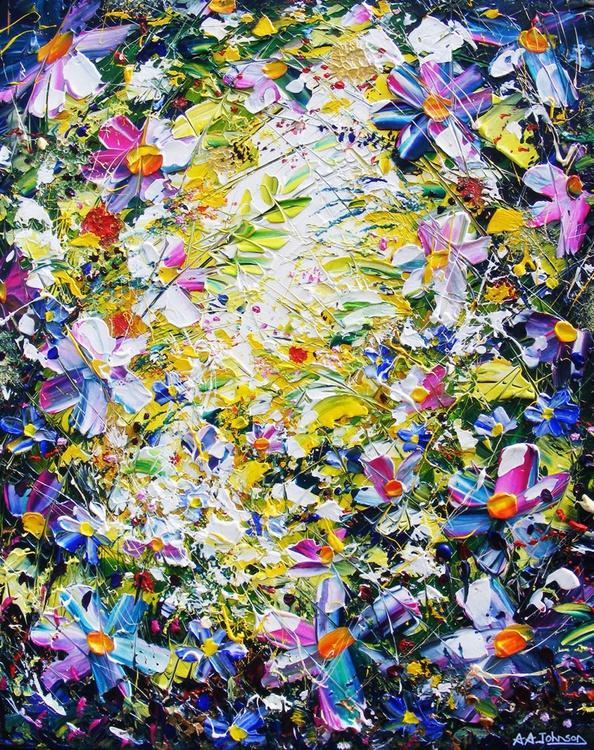"Original flower art - ""Love, light and happiness"" - Image 0"