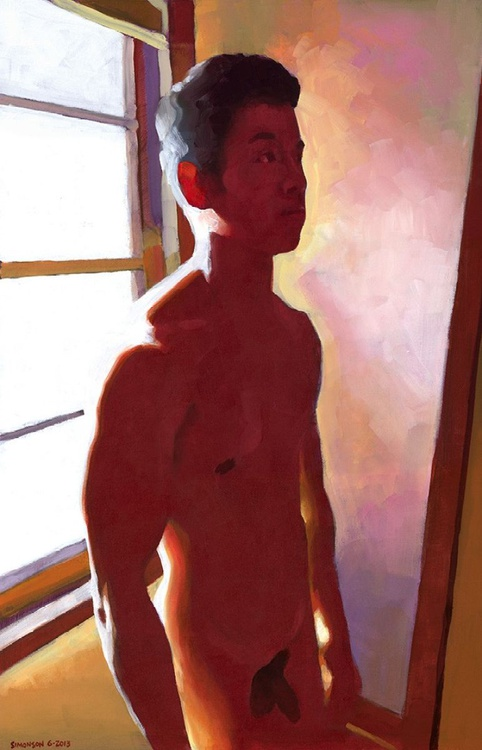 Asian Male Nude in Late Afternoon - Image 0