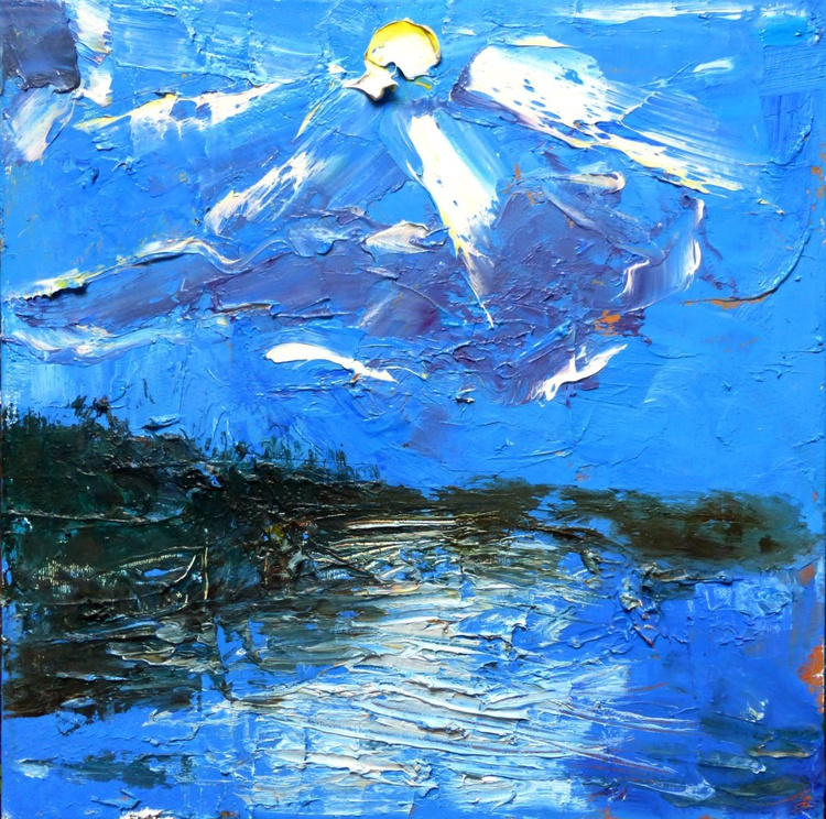 Sun. original oil painting 30x30 cm - Image 0