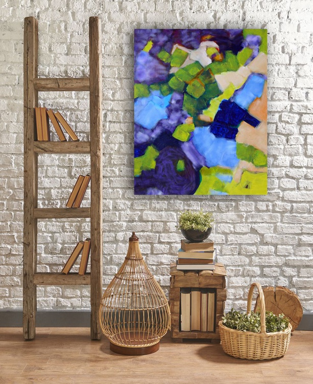 """Blue, Purple and Green - 24 x 30""""/51 x 76cm - Image 0"""