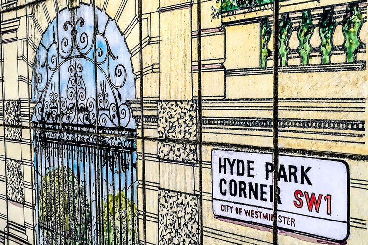 "LONDON CLOSE-UP NO:5 HYDE PARK (Limited edition  3/150) 8""X12"" - Image 0"