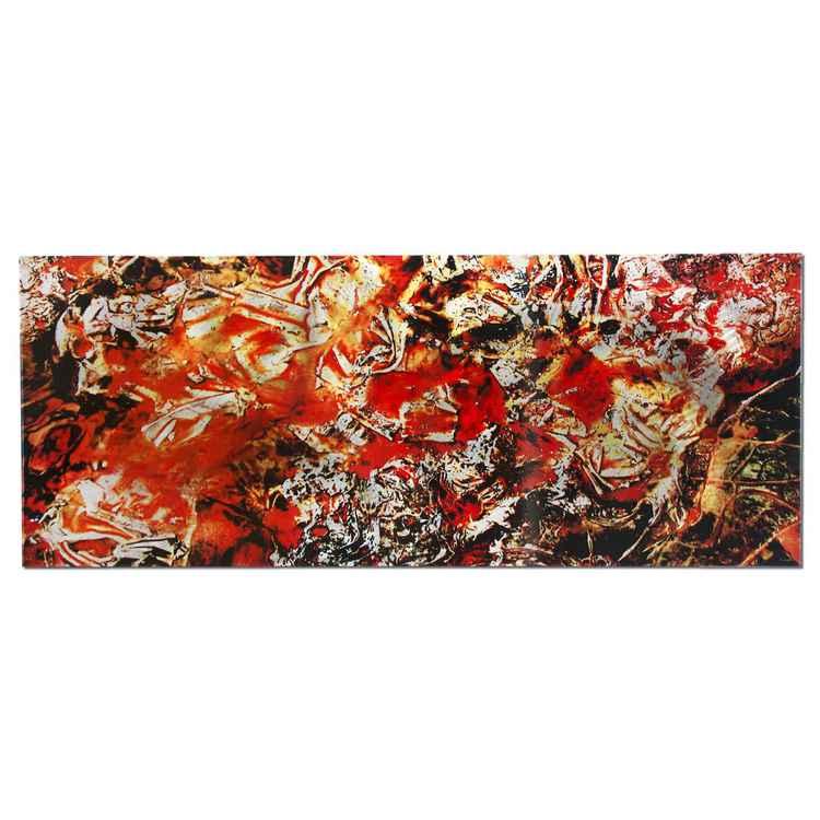 Cinders | Red/Orange Painting, Giclée on Metal