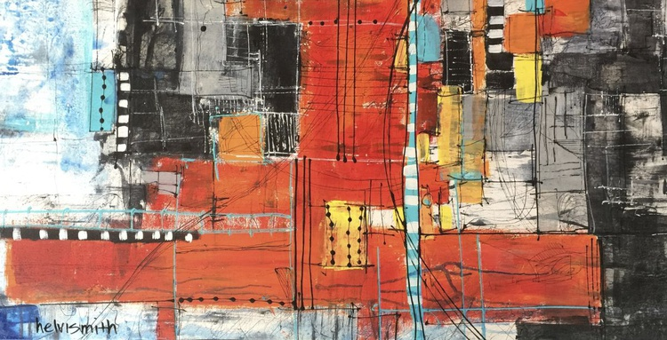 """Original Painting """"Gridlock at 3pm"""" - Image 0"""
