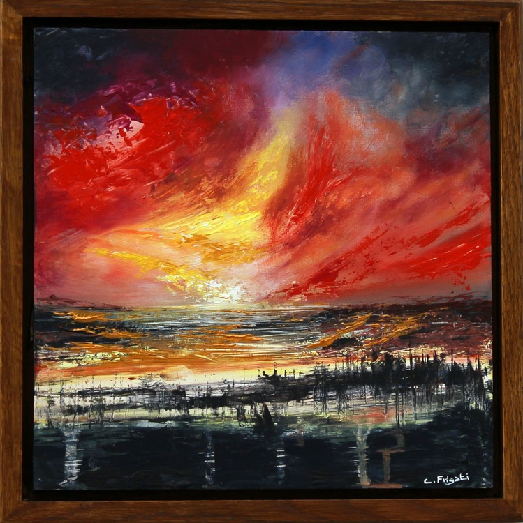The Clash of Angels #2 - framed abstract painting - Image 0