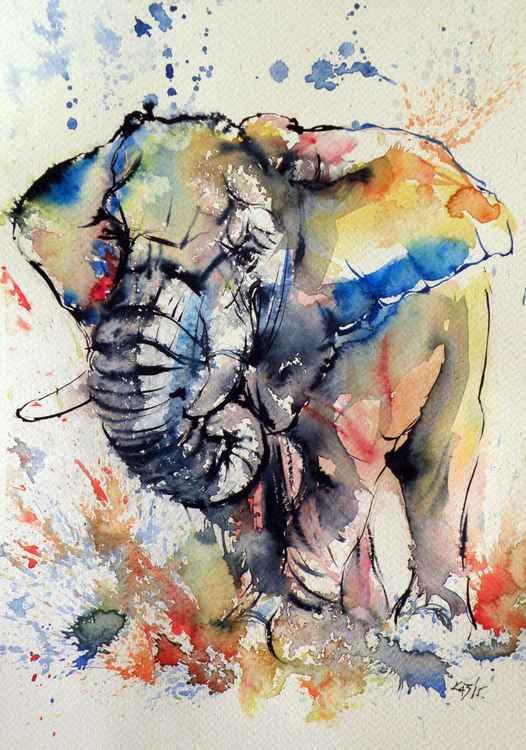 Colorful elephant -