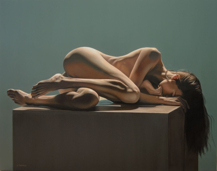 Large hyperrealistic nude, Oil on canvas - Image 0