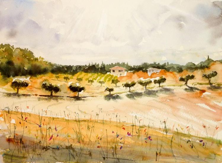 At the Edge of the Field, Abruzzo - Image 0