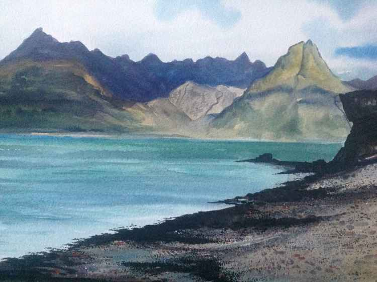 The Cuillens from Elgol Beach, Isle of Skye, Scotland