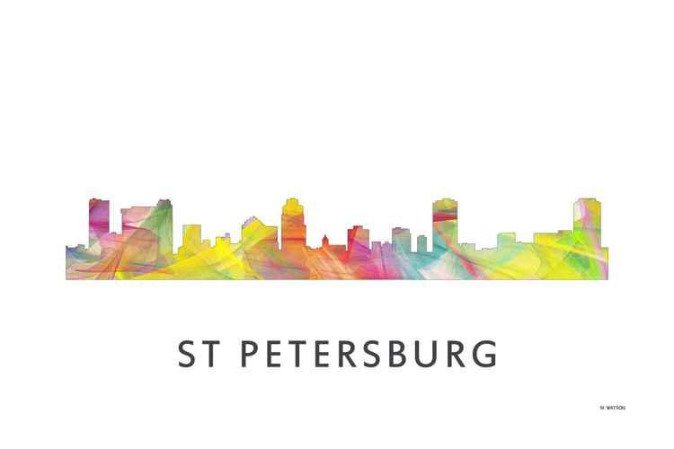 St Petersburg Florida Skyline WB1 -