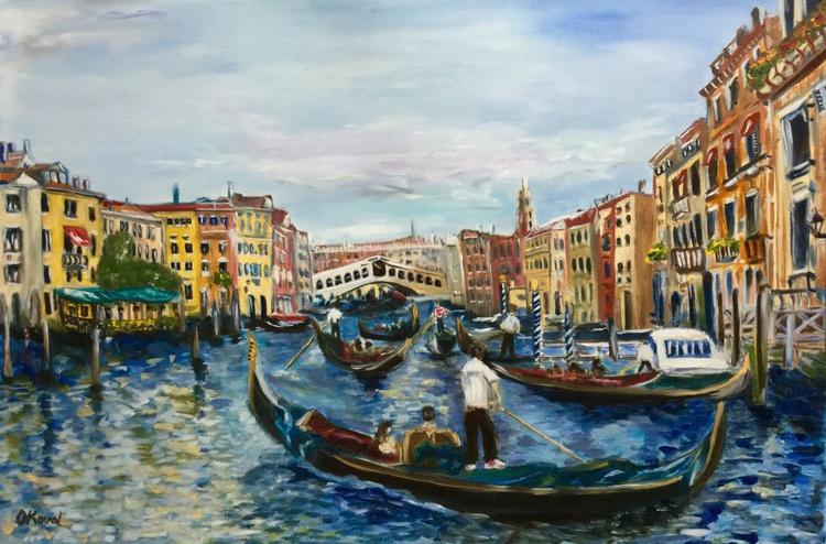 Venice . Grand canal . Rialto bridge . - Image 0