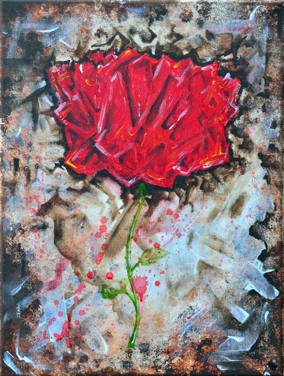 Abstract Red Rose - Image 0