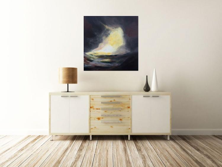 """Magical Sunset"" / Acrylic Painting 32x32x1.6"" - Image 0"
