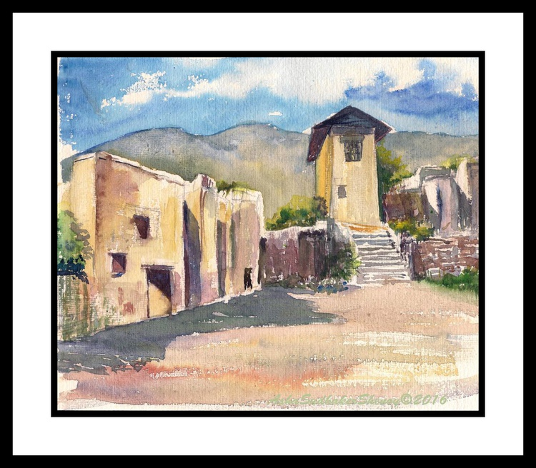 """An old monastery 8""""x 9.5"""" - Image 0"""