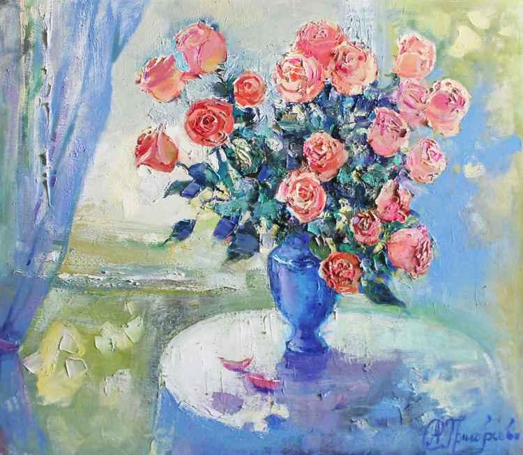 Roses. Pink tenderness