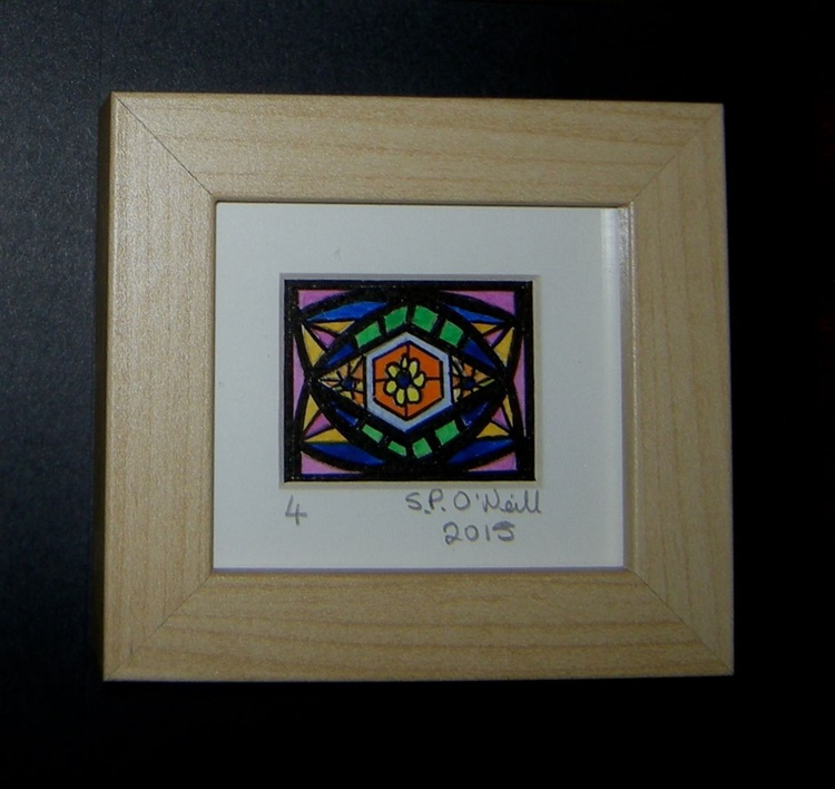 Mini stained glass window 4 - Image 0