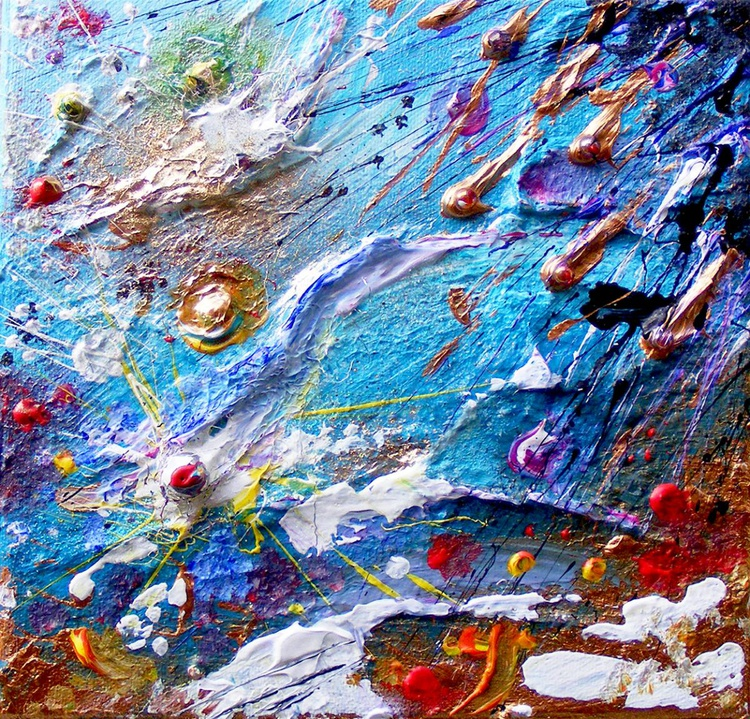 """Mixed media - """"Space Swimming"""" - Image 0"""