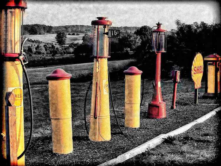 VINTAGE GAS FUEL PUMPS -
