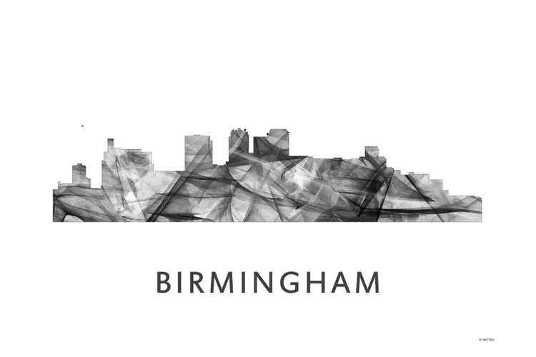 Birmingham Alabama Skyline WB BW