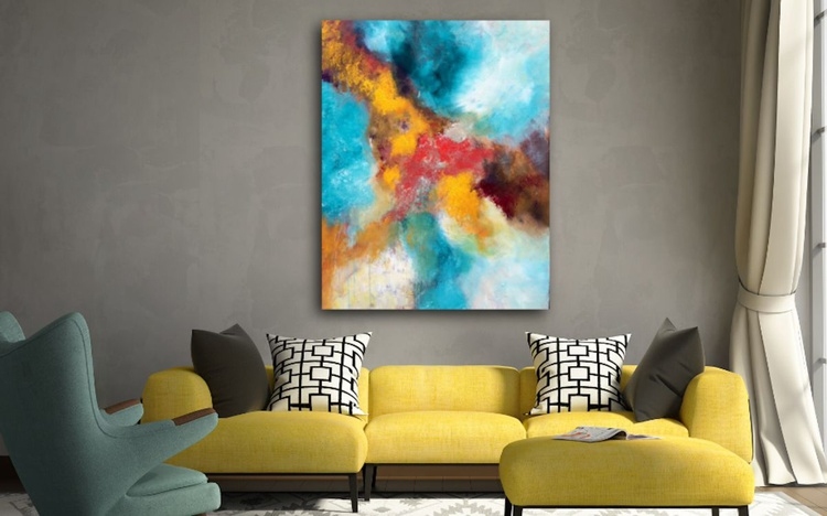 """Way of life"" ,  Abstract Acrylic Painting - 28x36inches - Image 0"