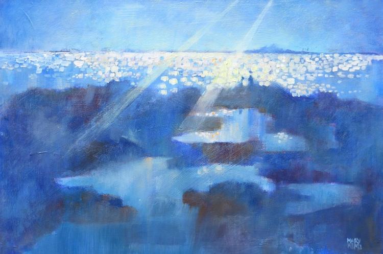 Rock Pools. Seaside Painting. - Image 0