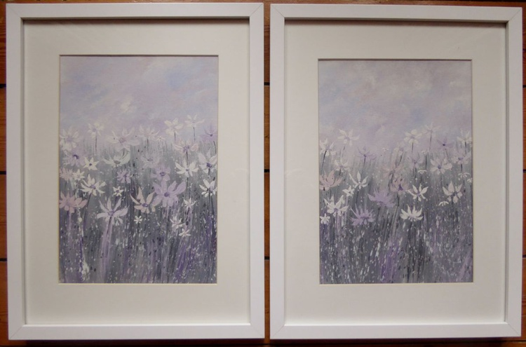 Daisy Fantayzee - framed pair of paintings - Image 0
