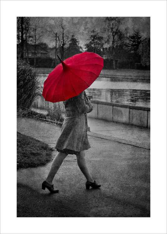 Girl with the red brolly