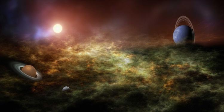 Suburb of Saturn / 40 cm x 80 cm - Image 0