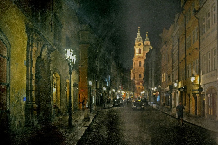 In the streets of Prague - Canvas 75 x 50 cm - Image 0