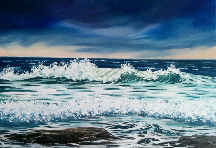 """Waves song-20x29"""" - Image 0"""