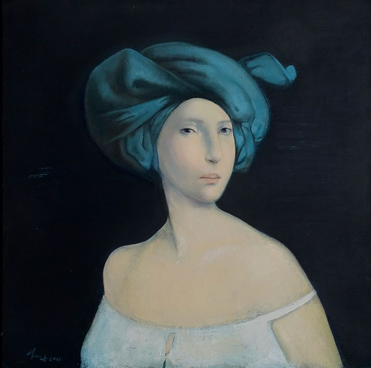 Lady with kerchief - Image 0