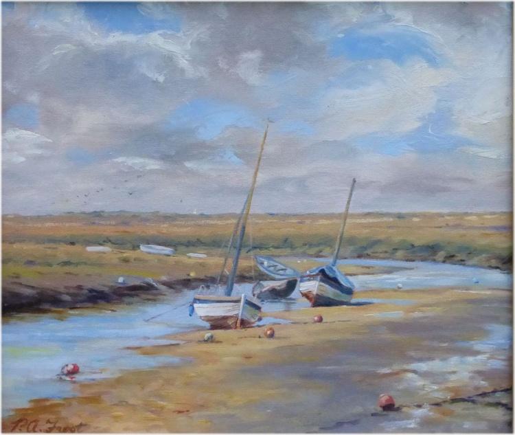 Sailing Boats, Morston Creek, North Norfolk Coast - Image 0