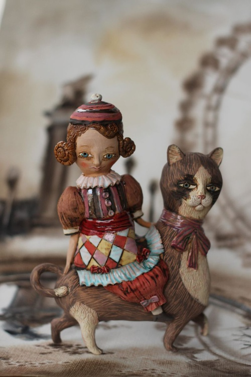 """Girl on the cat. From """"Le Carousel, Hommage à l'Innocence"""" project by Elya Yalonetski - Image 0"""