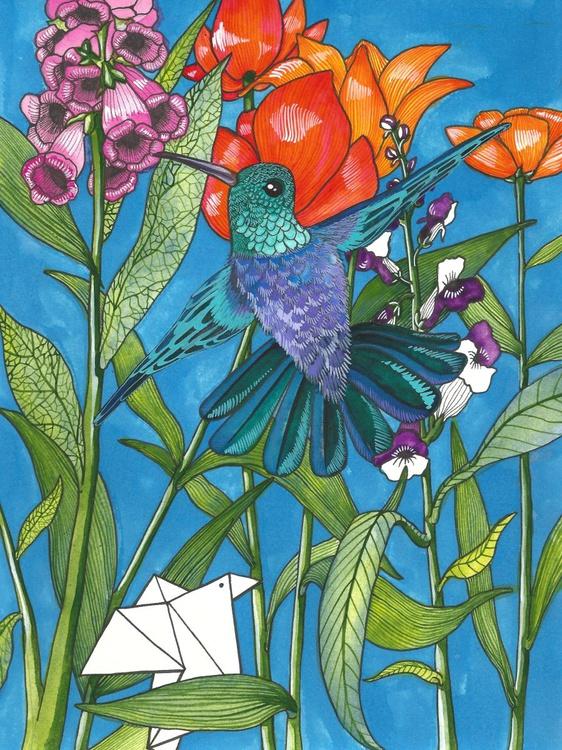 Illustration 8 (Tiny Paper Bird - Original) - Image 0