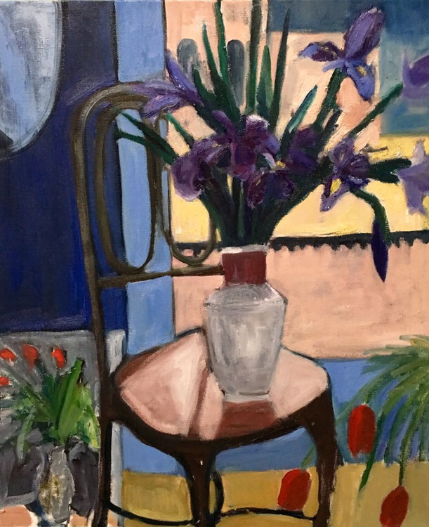 Irises by the Window - Image 0