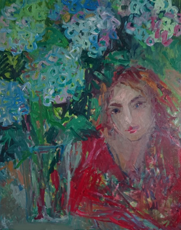 Girl who likes flowers - Image 0