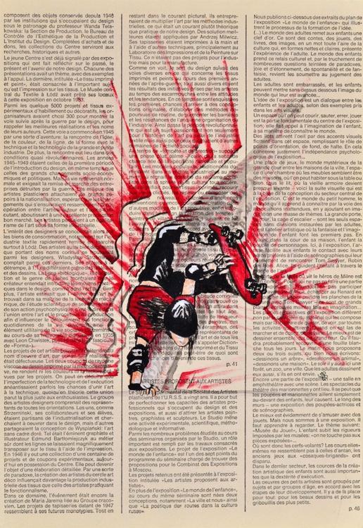 Skateboarder On Vintage Paper - Image 0
