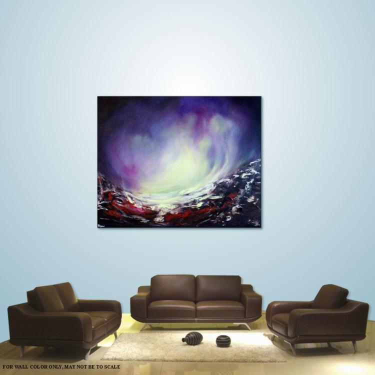 Aurora #8 - Large Original Abstract 100x80  Painting on Deep Edge Canvas - Image 0