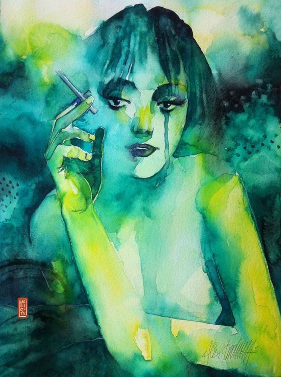 Smoking girl - Image 0