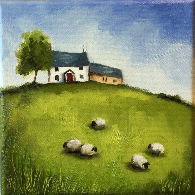 Welsh farmhouse with Sheep - Image 0