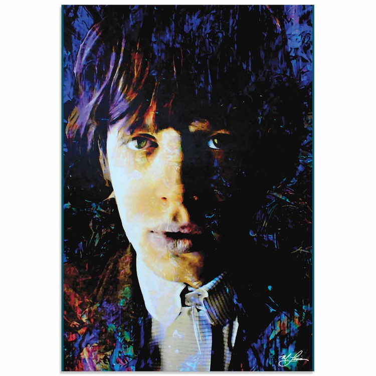 Mark Lewis 'Mic Jagger Poetic Secrets' Limited Edition Pop Art Print on Metal - Image 0