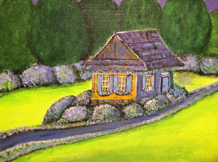 BLUE GARDEN 61 - LITTLE HOUSE WITH BLUE DOOR - Image 0