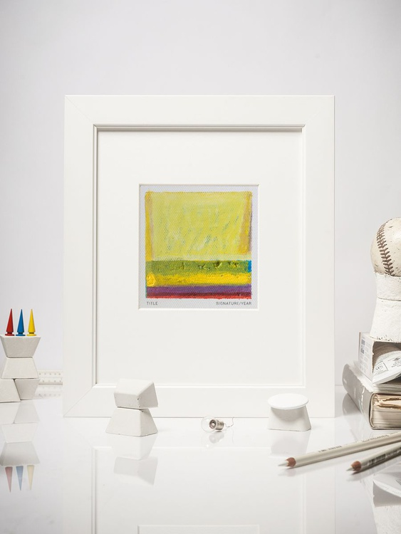 Peripheral Fields #04, Contemporary Mini Oil Painting, Mounted - Image 0