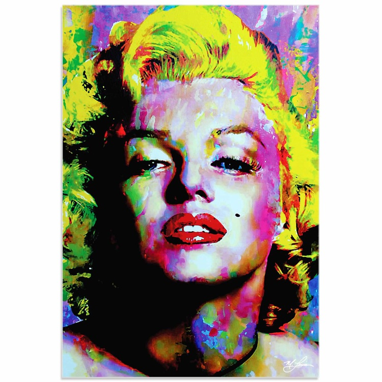 Mark Lewis 'Marilyn Monroe Relinquished Beauty' Limited Edition Pop Art Print on Acrylic - Image 0
