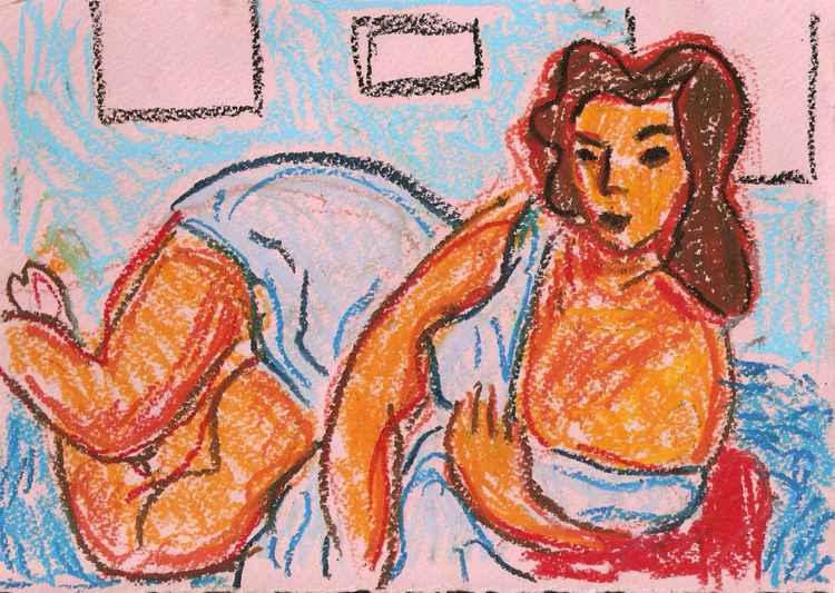 Nude in Blue -
