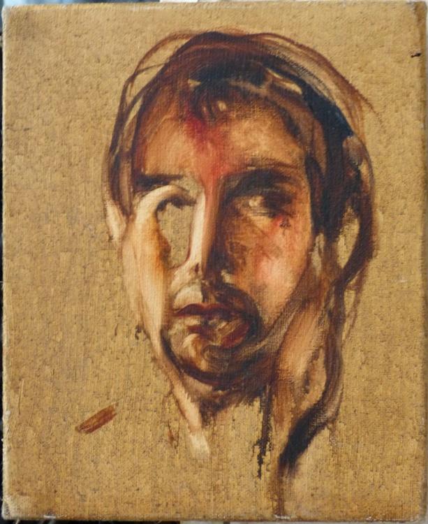 Self-portrait, oil on canvas 22x27 - Image 0