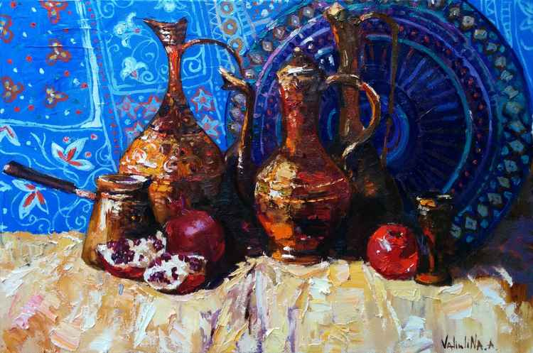 East still life painting -