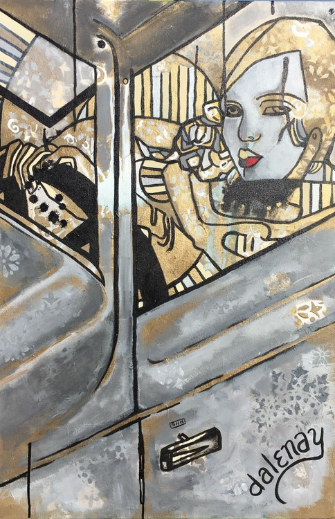 Shelley in the Patina Bugatti - Image 0