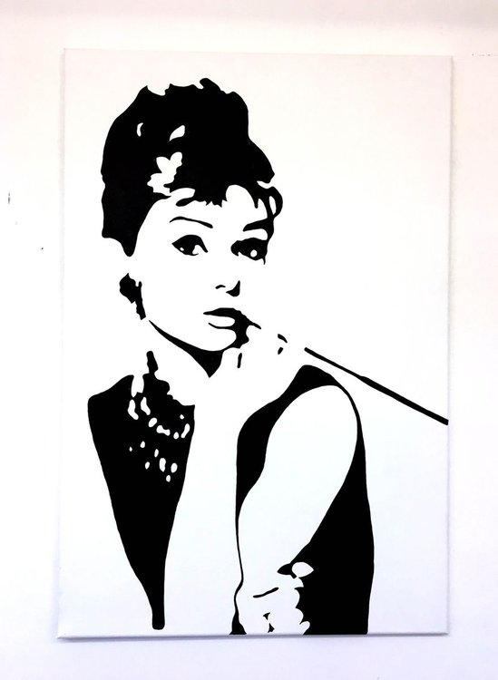 Original Audrey Hepburn Pop Art Canvas Painting | Artfinder