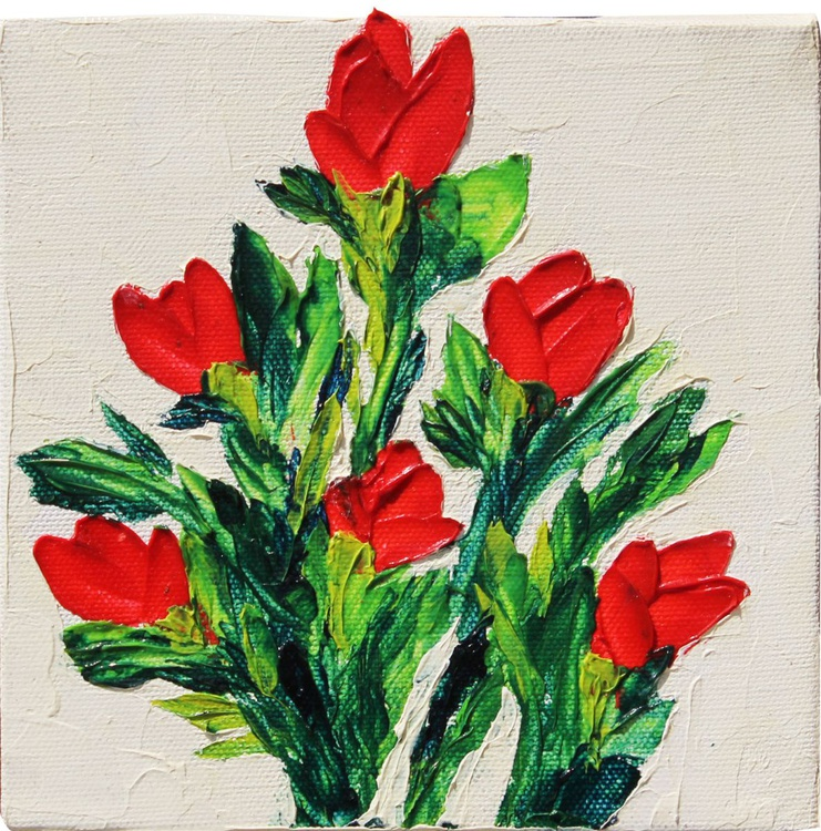 Red and White Tulip - Image 0