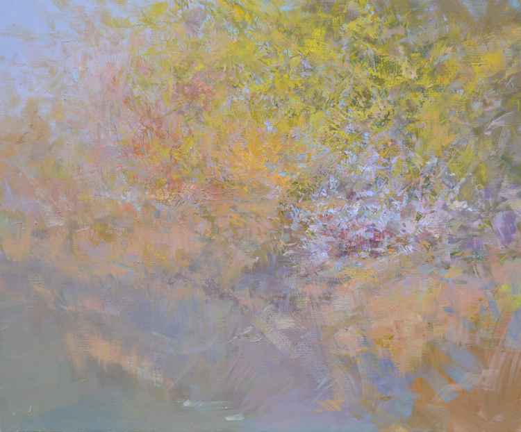 Abstract Painting Landscape. Crimea. Light -